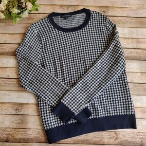 Brooks Brothers Houndstooth Wool Blend Sweater